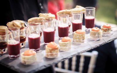 Editorial: el delicioso aperitivo del cóctel de boda